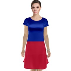 Civil Flag Of Haiti (without Coat Of Arms) Cap Sleeve Nightdress by abbeyz71