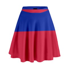 Civil Flag Of Haiti (without Coat Of Arms) High Waist Skirt by abbeyz71