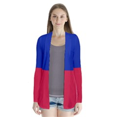 Civil Flag Of Haiti (without Coat Of Arms) Cardigans by abbeyz71