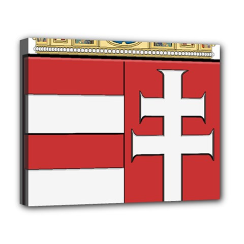Medieval Coat Of Arms Of Hungary  Deluxe Canvas 20  X 16   by abbeyz71