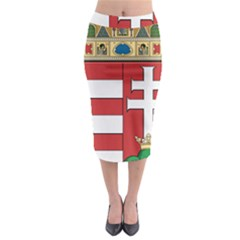 Medieval Coat Of Arms Of Hungary  Midi Pencil Skirt by abbeyz71