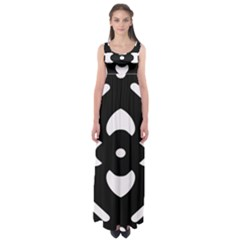 Black And White Pattern Background Empire Waist Maxi Dress