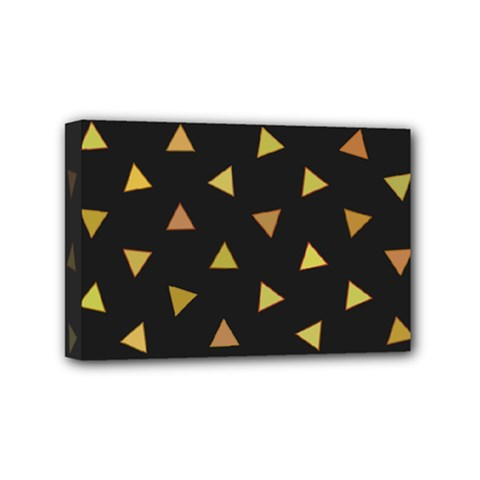 Shapes Abstract Triangles Pattern Mini Canvas 6  X 4  by Nexatart
