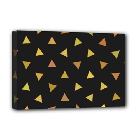 Shapes Abstract Triangles Pattern Deluxe Canvas 18  X 12