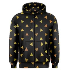 Shapes Abstract Triangles Pattern Men s Zipper Hoodie