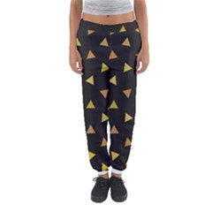 Shapes Abstract Triangles Pattern Women s Jogger Sweatpants