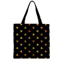 Shapes Abstract Triangles Pattern Zipper Grocery Tote Bag by Nexatart