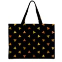 Shapes Abstract Triangles Pattern Zipper Mini Tote Bag View1