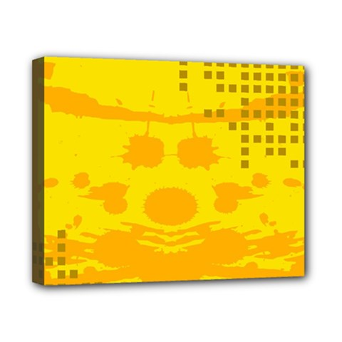 Texture Yellow Abstract Background Canvas 10  X 8  by Nexatart