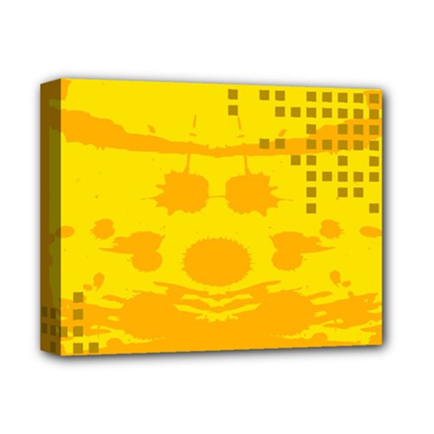 Texture Yellow Abstract Background Deluxe Canvas 14  X 11