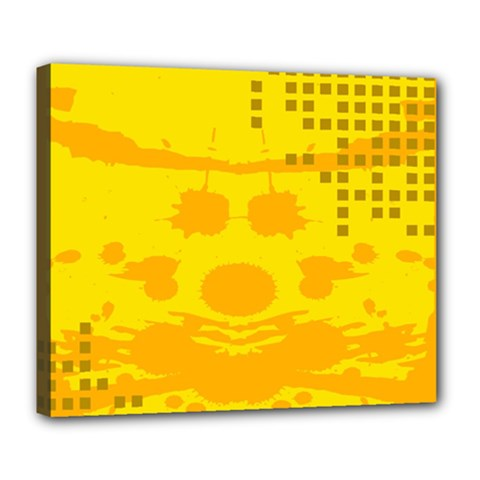 Texture Yellow Abstract Background Deluxe Canvas 24  X 20   by Nexatart