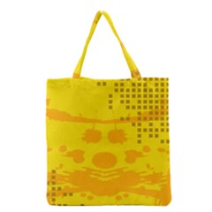 Texture Yellow Abstract Background Grocery Tote Bag by Nexatart