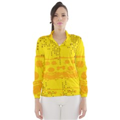 Texture Yellow Abstract Background Wind Breaker (women)