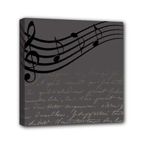 Music Clef Background Texture Mini Canvas 6  X 6  by Nexatart