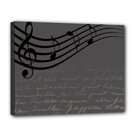 Music Clef Background Texture Canvas 14  X 11  by Nexatart