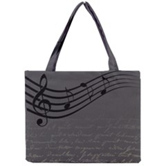 Music Clef Background Texture Mini Tote Bag