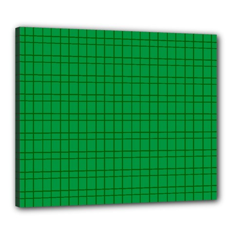 Pattern Green Background Lines Canvas 24  X 20