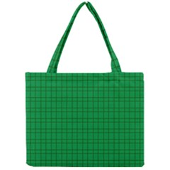 Pattern Green Background Lines Mini Tote Bag by Nexatart
