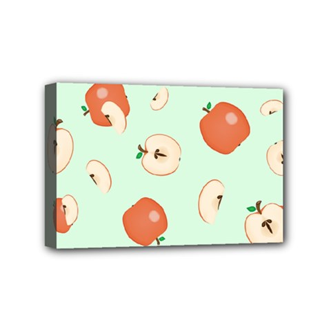 Apple Fruit Background Food Mini Canvas 6  X 4  by Nexatart