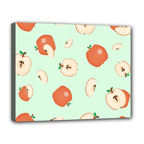 Apple Fruit Background Food Canvas 14  X 11