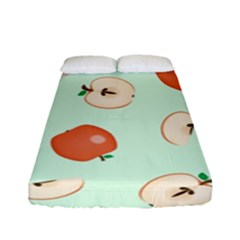 Apple Fruit Background Food Fitted Sheet (full/ Double Size) by Nexatart