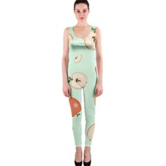 Apple Fruit Background Food Onepiece Catsuit