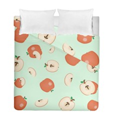 Apple Fruit Background Food Duvet Cover Double Side (full/ Double Size) by Nexatart