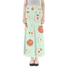 Apple Fruit Background Food Maxi Skirts