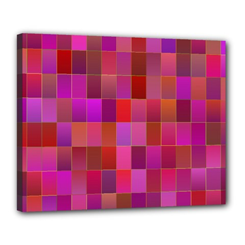 Shapes Abstract Pink Canvas 20  X 16  by Nexatart