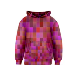 Shapes Abstract Pink Kids  Pullover Hoodie