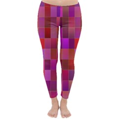 Shapes Abstract Pink Classic Winter Leggings by Nexatart