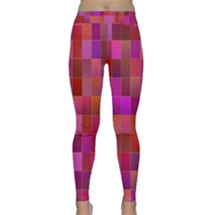 Shapes Abstract Pink Classic Yoga Leggings