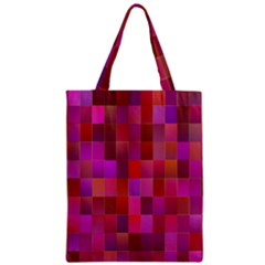 Shapes Abstract Pink Zipper Classic Tote Bag