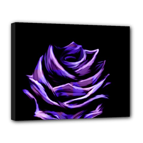 Rose Flower Design Nature Blossom Canvas 14  X 11  by Nexatart