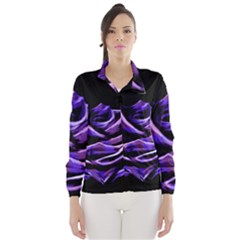 Rose Flower Design Nature Blossom Wind Breaker (women) by Nexatart