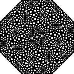 Dot Dots Round Black And White Hook Handle Umbrellas (medium)