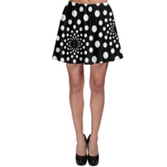 Dot Dots Round Black And White Skater Skirt