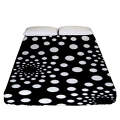Dot Dots Round Black And White Fitted Sheet (king Size)