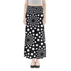 Dot Dots Round Black And White Maxi Skirts