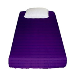 Pattern Violet Purple Background Fitted Sheet (single Size) by Nexatart