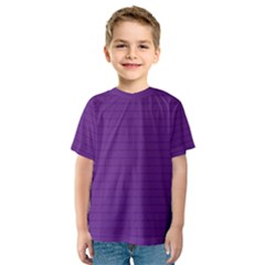 Pattern Violet Purple Background Kids  Sport Mesh Tee