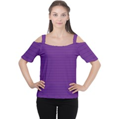 Pattern Violet Purple Background Women s Cutout Shoulder Tee by Nexatart