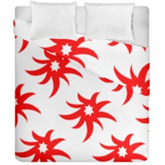 Star Figure Form Pattern Structure Duvet Cover Double Side (california King Size) by Nexatart