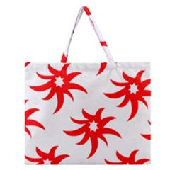 Star Figure Form Pattern Structure Zipper Large Tote Bag