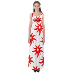 Star Figure Form Pattern Structure Empire Waist Maxi Dress