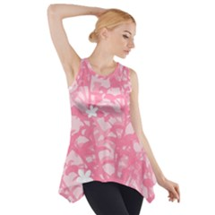 Plant Flowers Bird Spring Side Drop Tank Tunic by Nexatart
