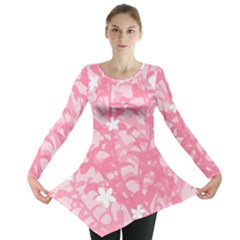 Plant Flowers Bird Spring Long Sleeve Tunic  by Nexatart