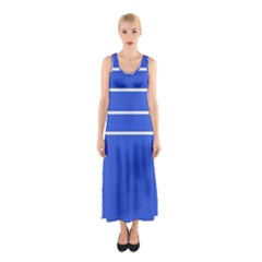 Stripes Pattern Template Texture Sleeveless Maxi Dress