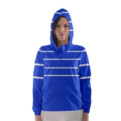 Stripes Pattern Template Texture Hooded Wind Breaker (women)