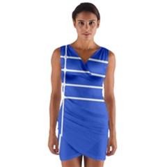 Stripes Pattern Template Texture Wrap Front Bodycon Dress
